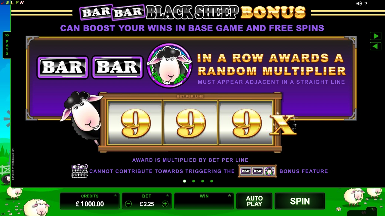 Bar Bar Black Sheep™ Slot Machine Game to Play Free in Microgamings Online Casinos