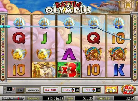 INTER CASINO :: Battle for Olympus slot game - PLAY NOW!