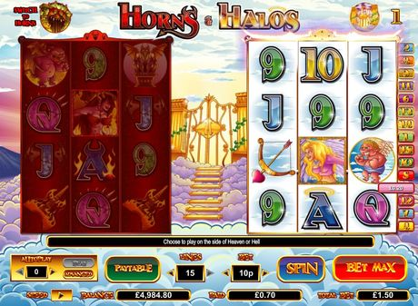 INTER CASINO :: Horns & Halos slot game - PLAY NOW!