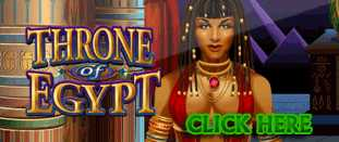 RED FLUSH CASINO :: NEW Slot Game - Throne of Egypt :: PLAY NOW!