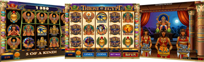 RED FLUSH CASINO :: Throne of Egypt video slot - PLAY NOW!