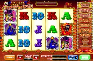 Virgin Casino :: Captain Cannon's Circus of Cash slot game - PLAY NOW!