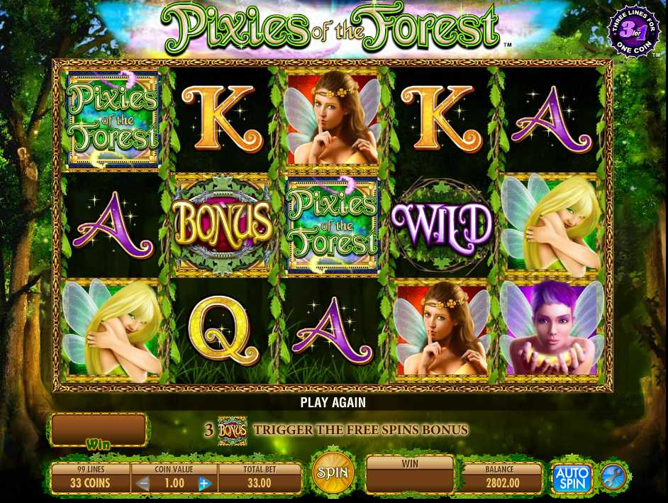 Mr. Green Casino :: Pixies Of The Forest slot game - PLAY NOW!