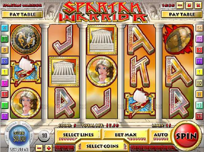 21Grand Casino :: Spartan Warrior video slot - PLAY NOW!