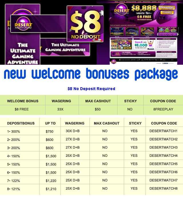 Desert Nights Casino - US Players Welcome!