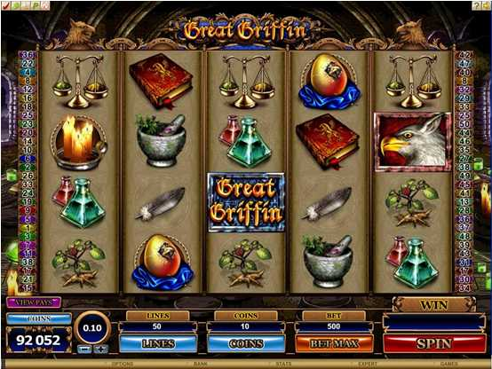 Red Flush Casino :: GREAT GRIFFIN slot game - PLAY NOW!