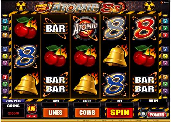 RiverNile Casino :: POWER SPINS ATOMIC 8s - PLAY NOW!