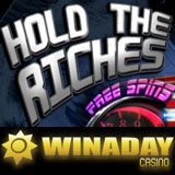 WinADay Casino's New 'Hold the Riches' Slots Game Features Free Spins and Hold Button — Free Chip this Weekend