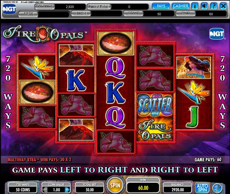 Mr. Green Casino :: Fire Opals slot game (IGT) - PLAY NOW!