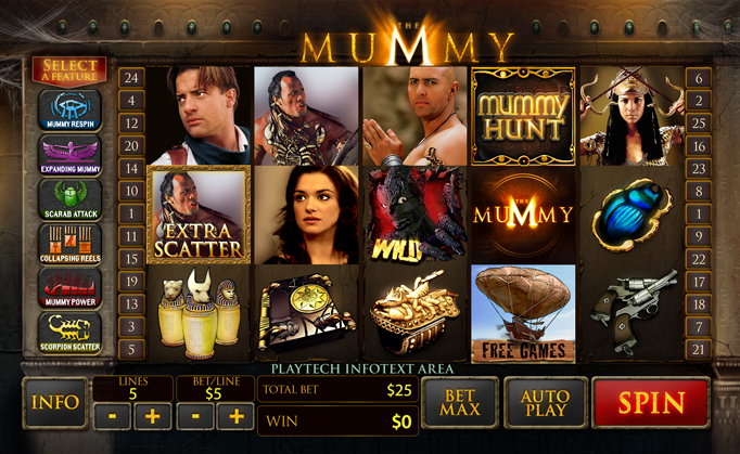 King Solomons Casino :: The Mummy slot machine - PLAY NOW!