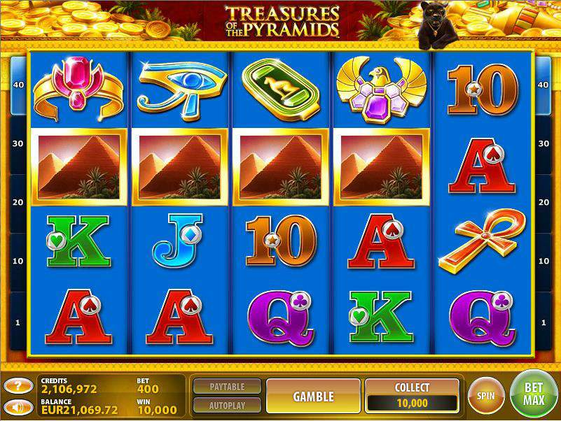 CasinoClub :: Treasures of the Pyramids slot game - PLAY NOW!