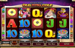 Red Flush Casino :: Rhyming Reels – Old King Cole slot game - PLAY NOW!