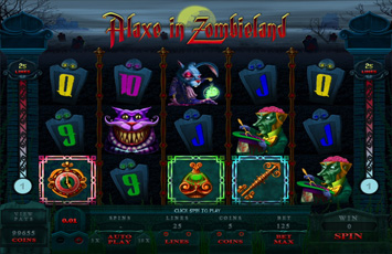 Casino Splendido :: Alaxe in Zombieland - New Flash Slot Game :: PLAY NOW!