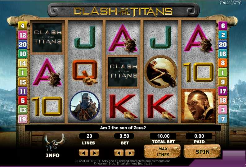 888games :: Clash of the Titans slot game - PLAY NOW!