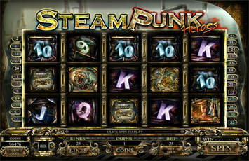 Casino Splendido :: Steam Punk Heroes - New Flash Slot Game :: PLAY NOW!