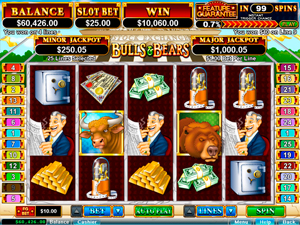 PRISM CASINO :: Bulls & Bears slot game - US Players Welcome!