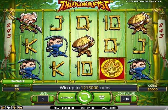 Mr. Green Casino :: Thunderfist video slot - PLAY NOW!