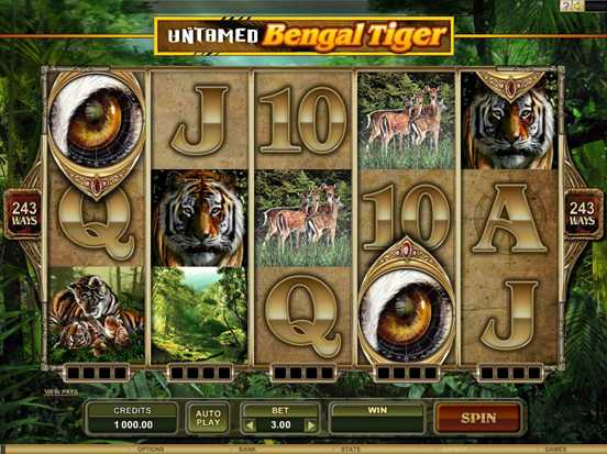 Untamed - Bengal Tiger video slot (Microgaming software) :: PLAY NOW!