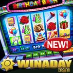 WinADay Casino :: Birthday Bash Casino Game at Instant Play Casino
