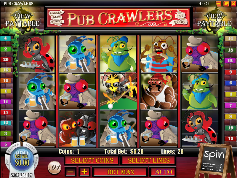 21Grand Casino :: Pub Crawlers video slot - PLAY NOW!