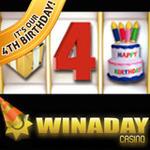 WinADay Casino Celebrates 4th Birthday