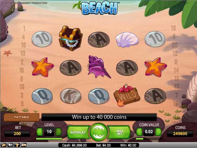 ComeOn Casino :: BEACH video slot - PLAY NOW!