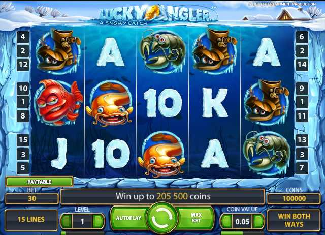 Mr.Green Casino :: Lucky Angler: A Snowy Catch video slot - PLAY NOW!