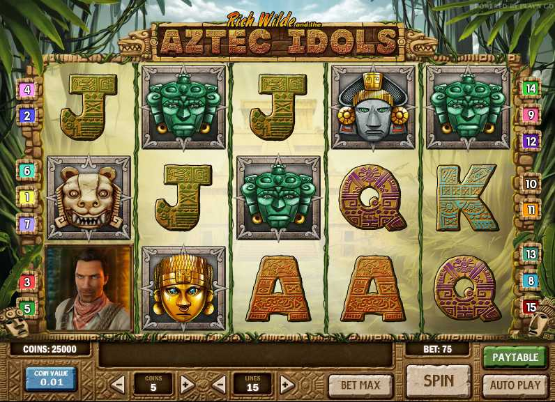 Vera&John Casino :: Rich Wilde and the Aztec Idols slot game - PLAY NOW!
