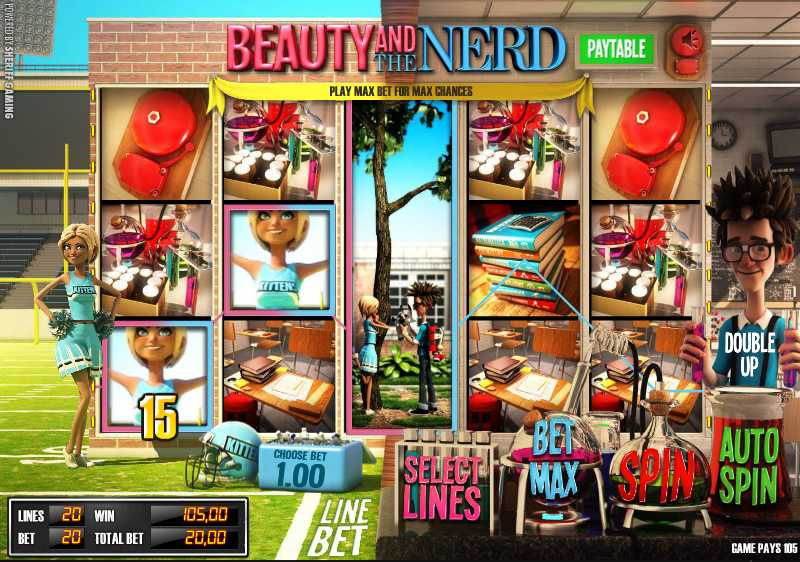 ComeOn Casino :: Beauty and the Nerd 3D slot game - PLAY NOW!