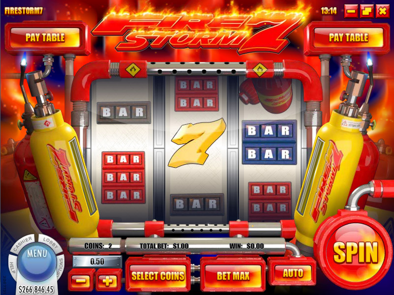 Slots Capital Casino :: Fire Storm 7 Three Reel Slot - PLAY NOW!