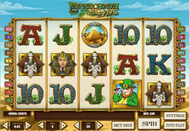 Unibet Casino :: Leprechaun goes Egypt video slot - PLAY NOW!