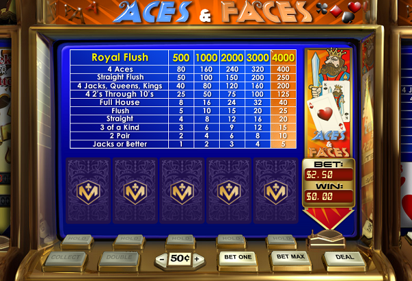 Miami Club Casino :: Aces and Faces Video Poker - PLAY NOW!
