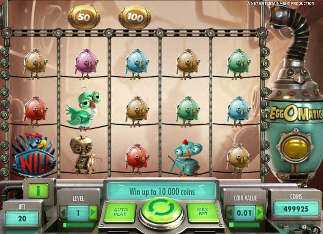 Mr.Green Casino :: EggOMatic video slot - PLAY NOW!
