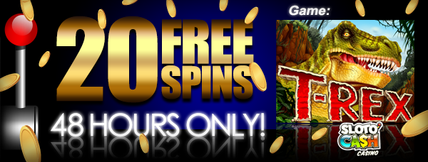 20 Free Spins SlotoCash – 48 hours only – This weekend