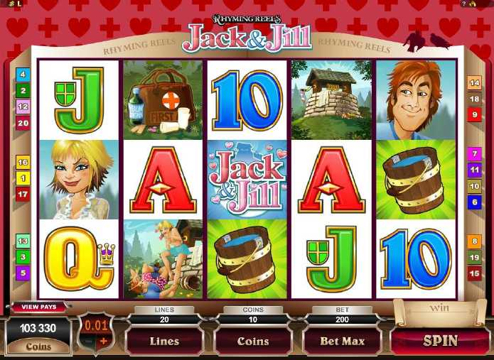 Red Flush Casino :: Rhyming Reels - Jack & Jill video slot - PLAY NOW!