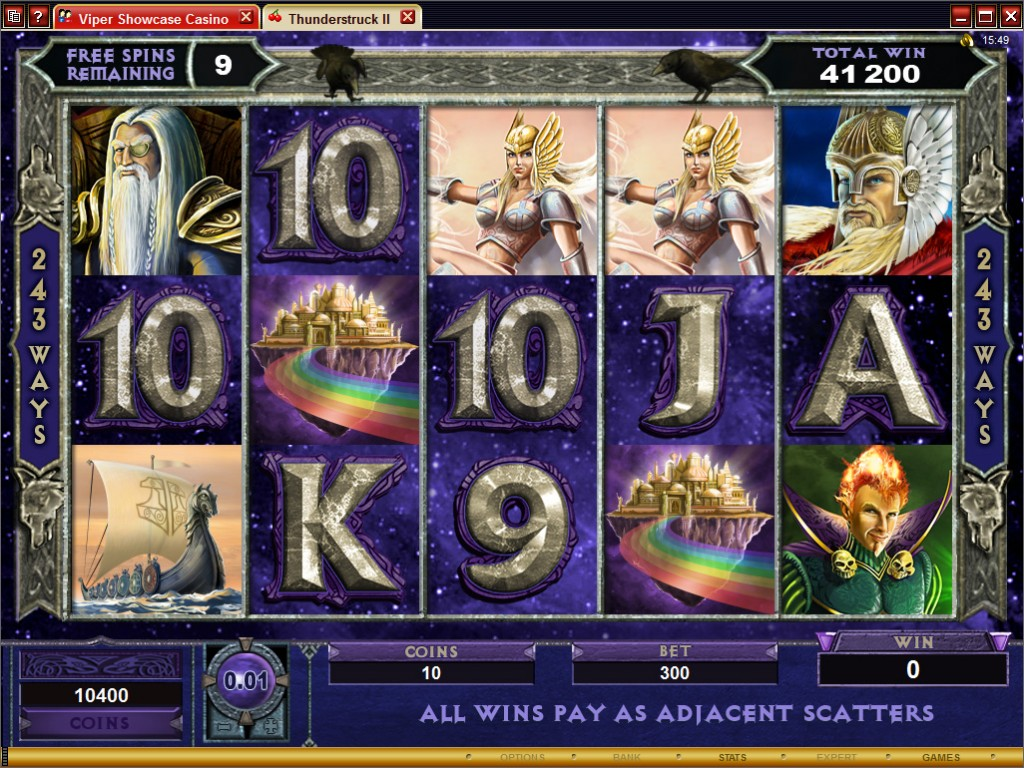 Golden Riviera Casino :: Thunderstruck II video slot (€25,000 Freeroll Tournament)