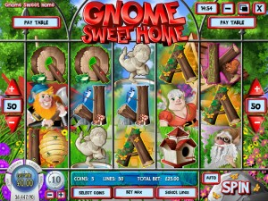 Slots Capital Casino :: Gnome Sweet Home video slot - PLAY NOW! (US Players Welcome!)