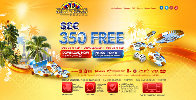 Sun Vegas Casino :: PLAY NOW!