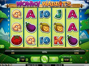 Tropezia Palace Casino :: Wonky Wabbits™ video slot - PLAY NOW!