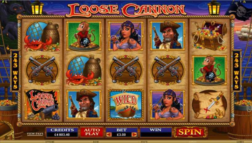 Golden Riviera Casino :: Loose Cannon video slot - PLAY NOW!