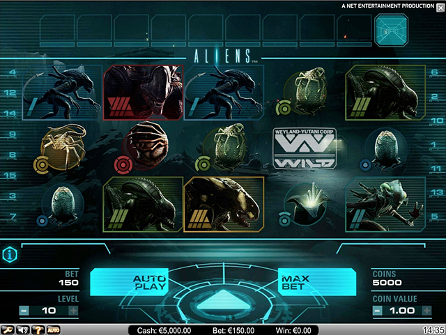 EuroSlots Casino :: Aliens™ video slot - PLAY NOW!