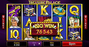 Golden Riviera Mobile Casino :: Treasure Palace slot (iPhone) - PLAY NOW!