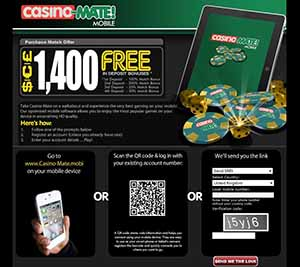 Casino-Mate Mobile :: NEW mobile casino - PLAY NOW!