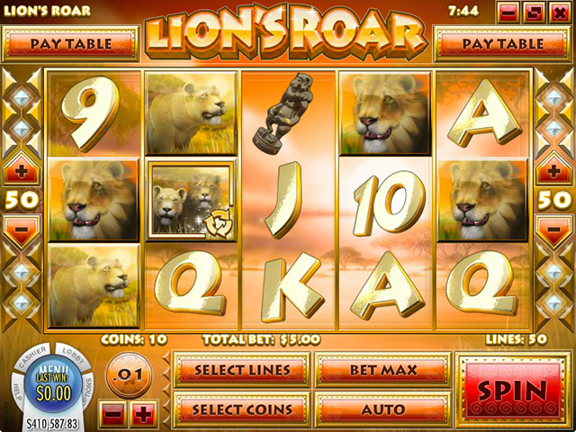 Tropezia Palace Casino :: Lion's Roar slot - PLAY NOW!