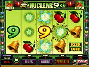 CRAZY VEGAS CASINO :: Power Spins – Nuclear 9's video slot - PLAY NOW!