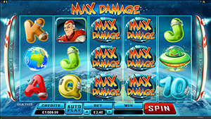 RED FLUSH CASINO :: MAX DAMAGE Online Slot - PLAY NOW!