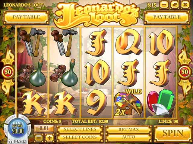 Tropezia Palace Casino :: Leonardo's Loot slot - PLAY NOW!