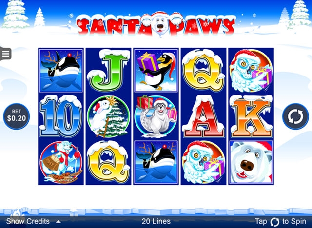 Golden Riviera Mobile Casino :: Santa Paws mobile slot - PLAY NOW!