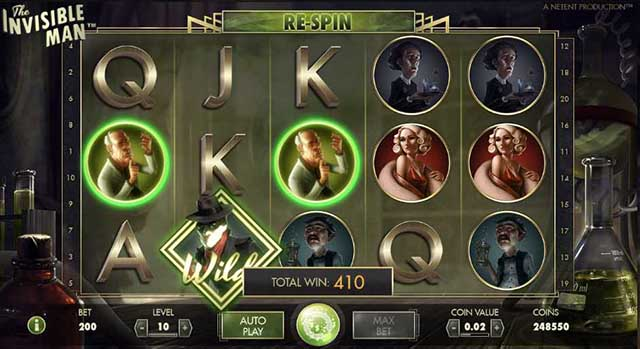 Mr Green Casino :: The Invisible Man video slot - PLAY NOW!