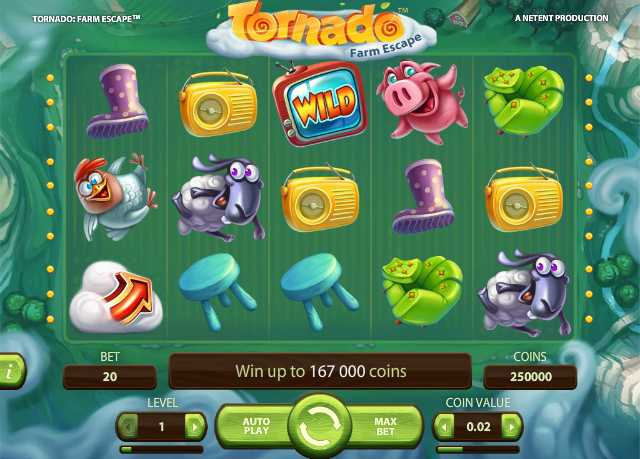 Mr Green Casino :: Tornado™: Farm Escape video slot - PLAY NOW!